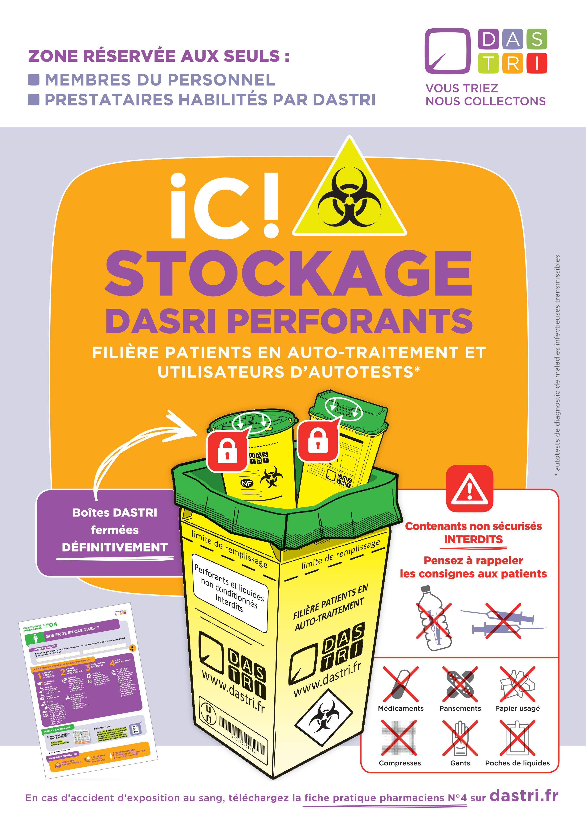 Affiche_stockage_A4_DASTRI_2017_pour_point de collecte du reseau DASTRI