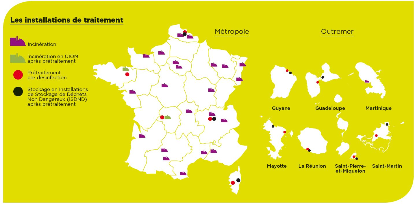 Carte des installations de traitement 2018