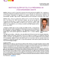 CP Nomination M.Guéry_DASTRI 21 juillet 2017